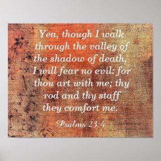 Póster No tema ningún mal -- 23:4 de los salmos -