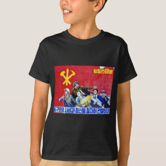 Poster norcoreano del Partido Comunista Camiseta