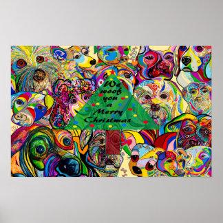Póster Nosotros TEJIDO usted Felices Navidad