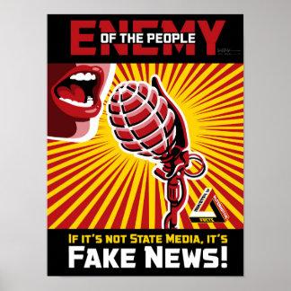 Póster Noticias falsas