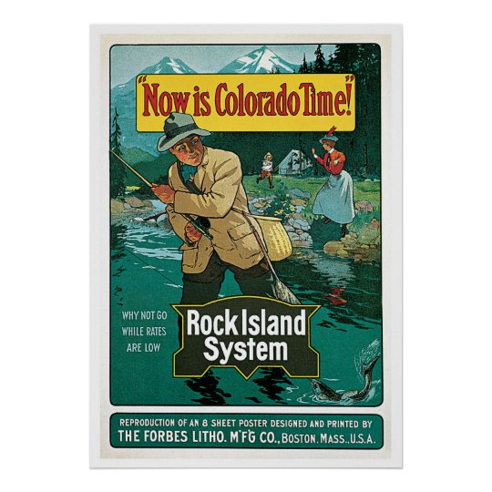 Póster Now is Colorado Time Poster Vintage