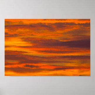 Póster Nubes de la salida del sol, la Florida