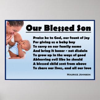 Póster Nuestro hijo bendecido - poster