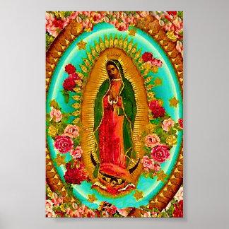 Póster Nuestro Virgen María mexicano del santo de señora