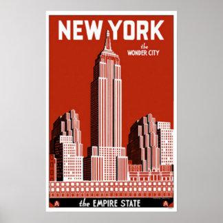 Póster Nueva York la ciudad de la maravilla