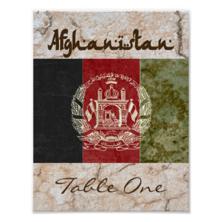 Póster Número de AfghanistanTable