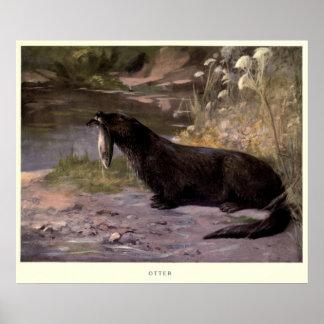 Póster Nutria Painting (1909) del vintage