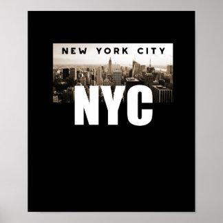 Póster NYC New York City. Horizonte. América, los