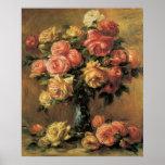 Poster o impresión de la bella arte de los rosas d