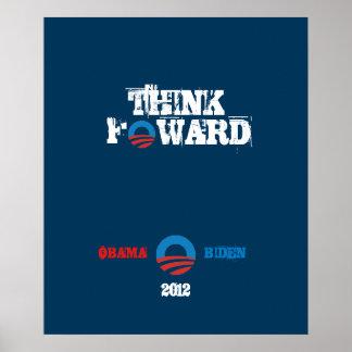 Poster Obama - Biden 2012 piensa adelante