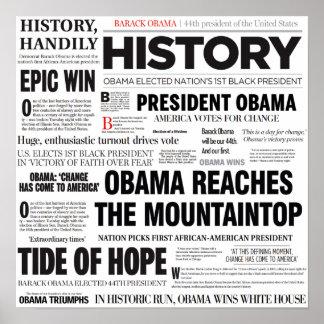 Póster Obama: Poster histórico del collage del título