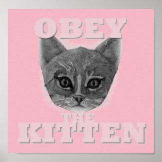 Póster Obedezca el gatito