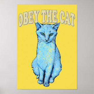Póster Obedezca el gato