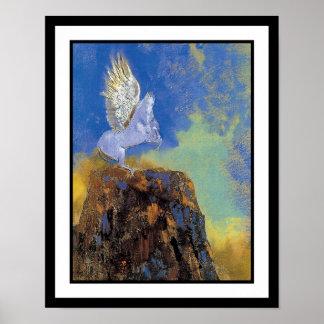 Póster Odilon Redon Pegaso - simbolismo de la mitología
