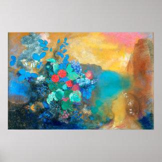 Póster Ofelia entre las flores el | Odilon Redon