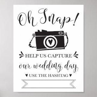 Póster Oh muestra rápida de Hashtag que se casa