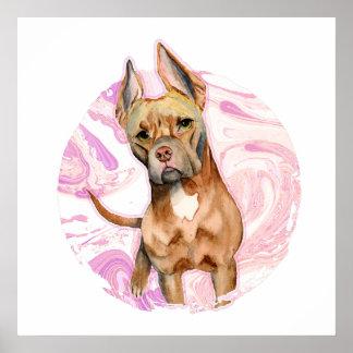 """Póster """"Oídos del conejito"""" pintura de la acuarela del"""