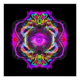 Póster Ojo púrpura de Saturn