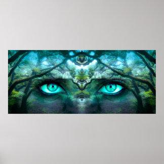 Póster Ojos del bosque