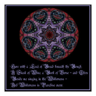 Póster Omar Khayyam - poster de la cita del amor