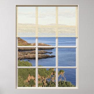 Póster Opinión escocesa de la isla de la ventana
