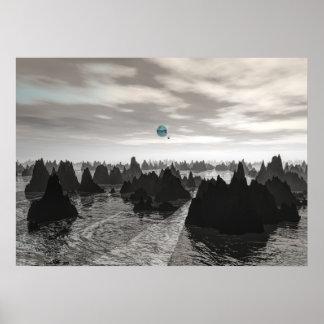 Póster Orbes azules misteriosos