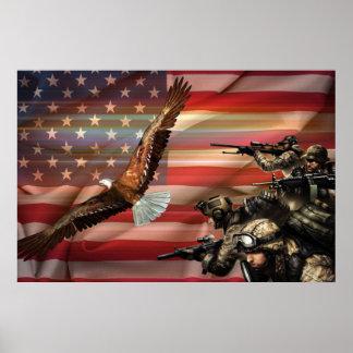 Póster Orgullo americano