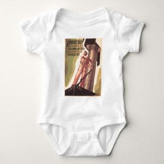 Poster original 1936 de la guerra civil CNT-FAI de Body Para Bebé