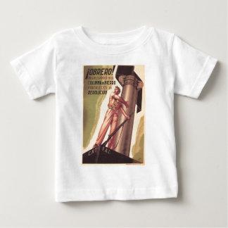Poster original 1936 de la guerra civil CNT-FAI de Camiseta De Bebé