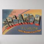 Póster Orlando, la Florida - escenas grandes 2 de la letr