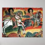 Poster ortodoxo etíope de la pintura de la iglesia