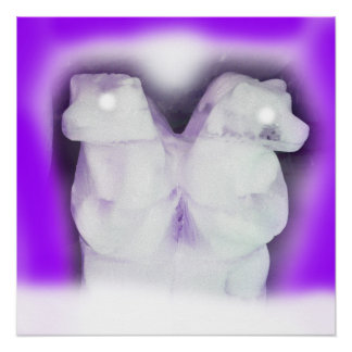 Póster Osos de hielo