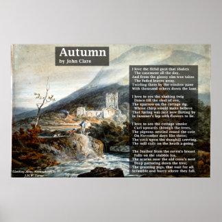Póster Otoño por la poesía de John Clare