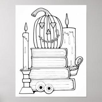 Póster Página adulta de papel de tarjetas del colorante