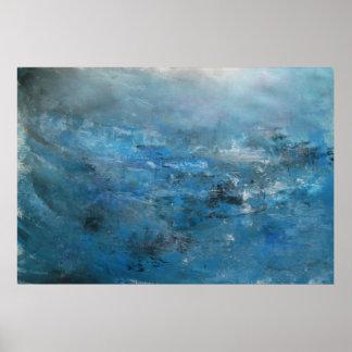 Póster Paisaje marino abstracto - luces en el agua