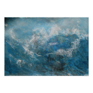 Póster Paisaje marino abstracto - tormenta en el mar