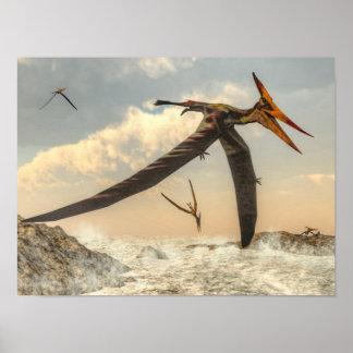 Póster Pájaros de Pteranodon - 3D rinden