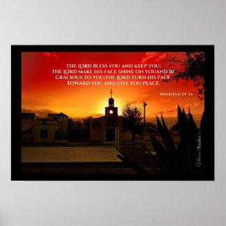"""Póster """"Palabras santas"""": Numera el 6:24 - 26"""