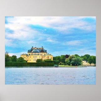 Póster Palacio de Drottningholm en Suecia
