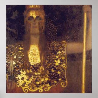 Póster Pallas Athena de Gustavo Klimt