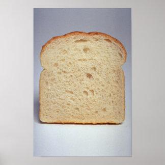 Póster Pan blanco delicioso