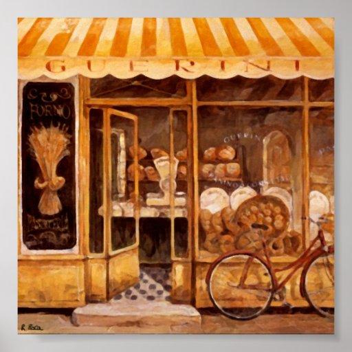 Póster Panadería Guerini Hornear (Italia) Original Atwork
