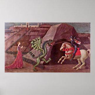 Póster Paolo Uccello - San Jorge y el dragón