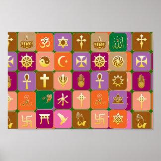 Póster Para razonable: RESPECTO por TODAS LAS RELIGIONES
