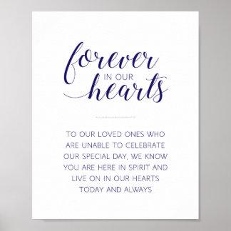 Póster Para siempre en nuestros corazones que casan -