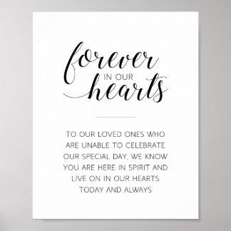 Póster Para siempre en nuestros corazones que casan la