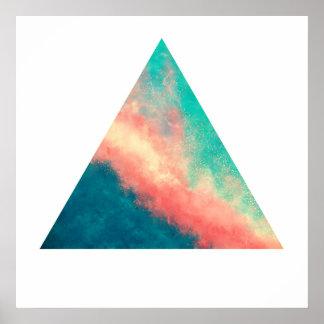 Póster Paraíso rosado de la arena (triángulo del zen)