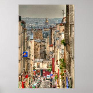 Poster parisiense de la calle