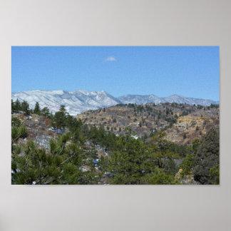 Póster Parque de estado de Colorado de las montañas