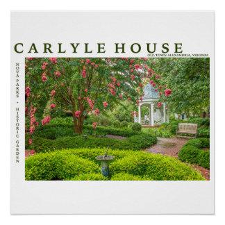 Póster Parque histórico y jardín de la casa de Carlyle